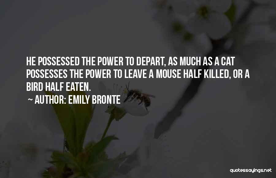 Power Powerless Quotes By Emily Bronte