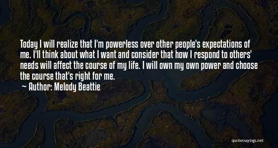 Power Powerless Quotes By Melody Beattie