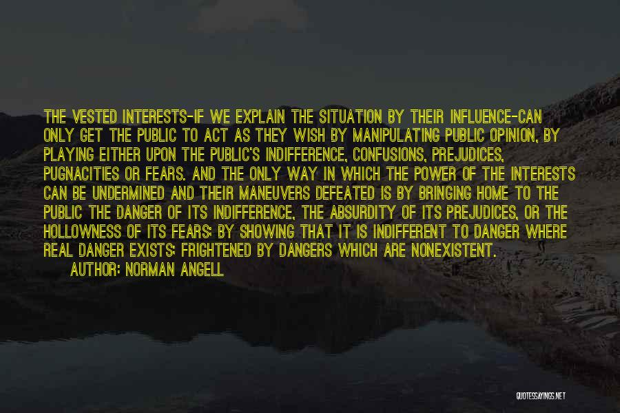 Power To Influence Quotes By Norman Angell