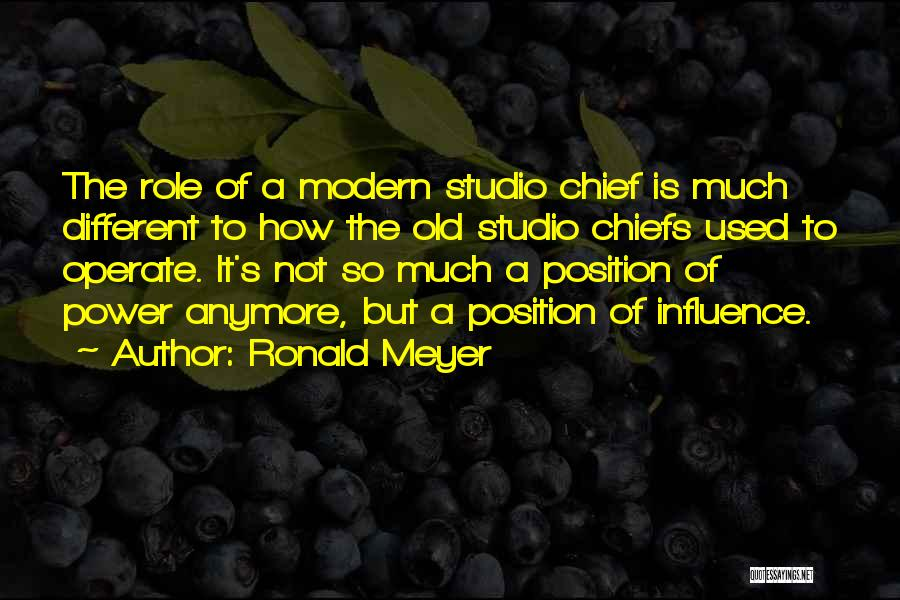 Power To Influence Quotes By Ronald Meyer