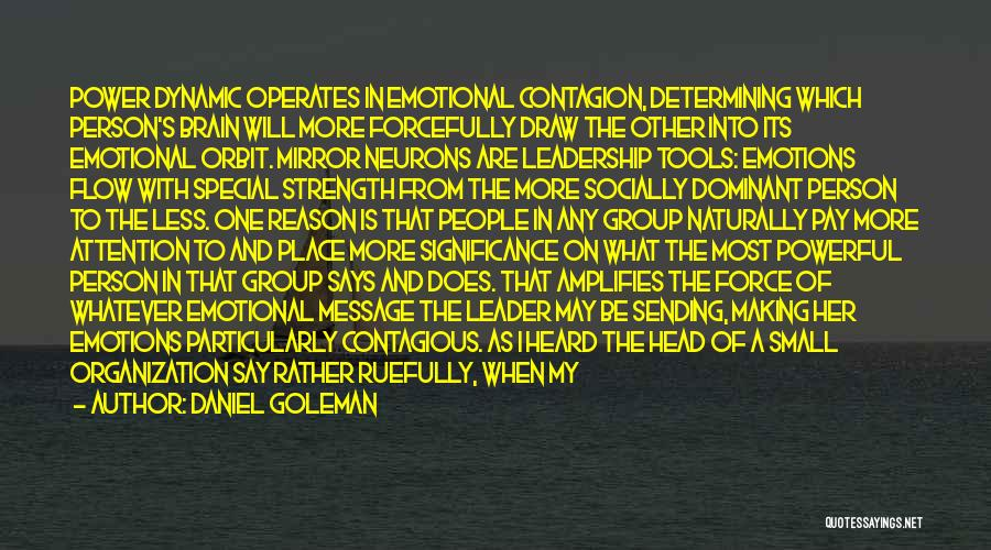 Power Tools Quotes By Daniel Goleman