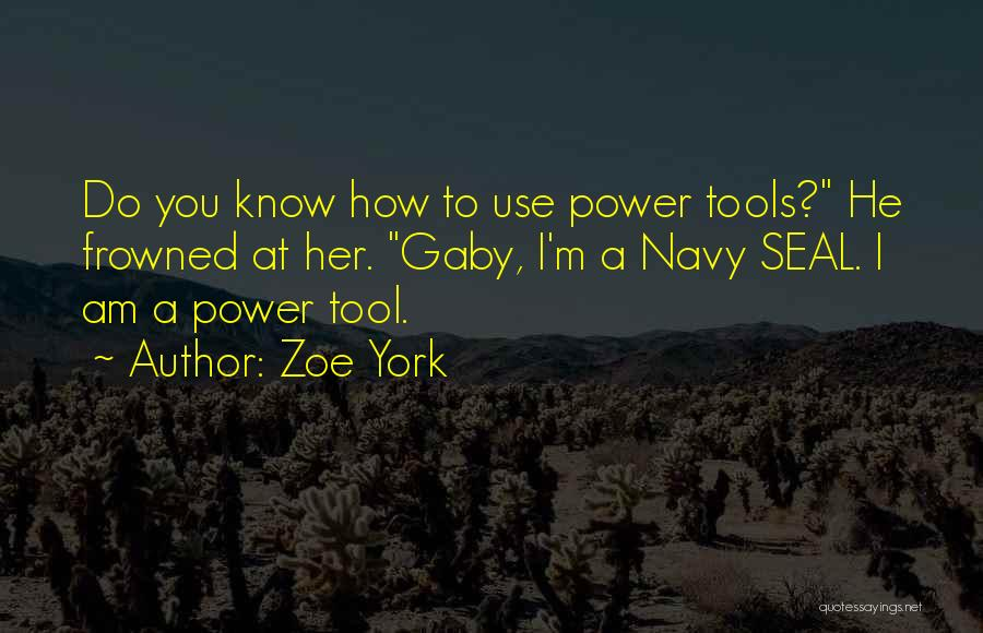Power Tools Quotes By Zoe York