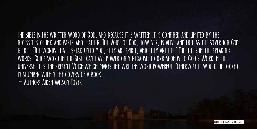 Powerful Word Of God Quotes By Aiden Wilson Tozer