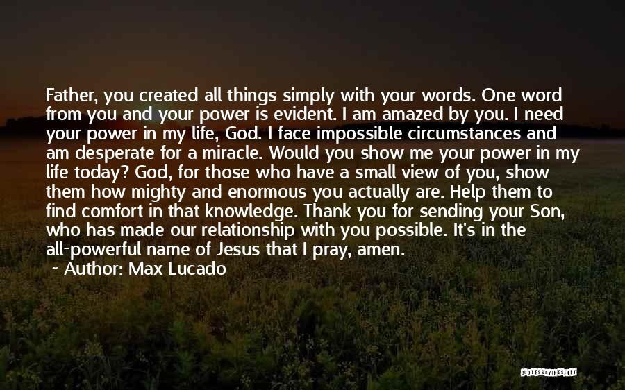 Powerful Word Of God Quotes By Max Lucado