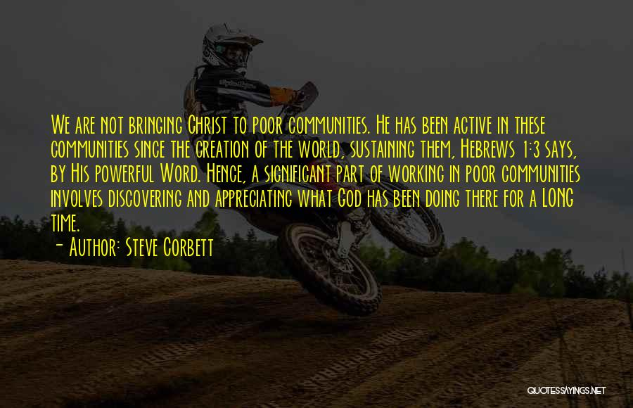 Powerful Word Of God Quotes By Steve Corbett