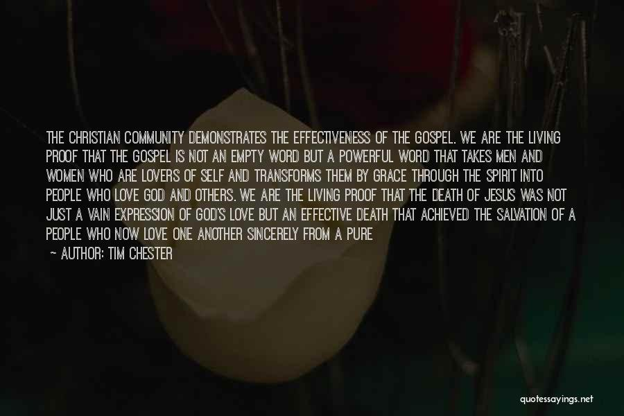 Powerful Word Of God Quotes By Tim Chester