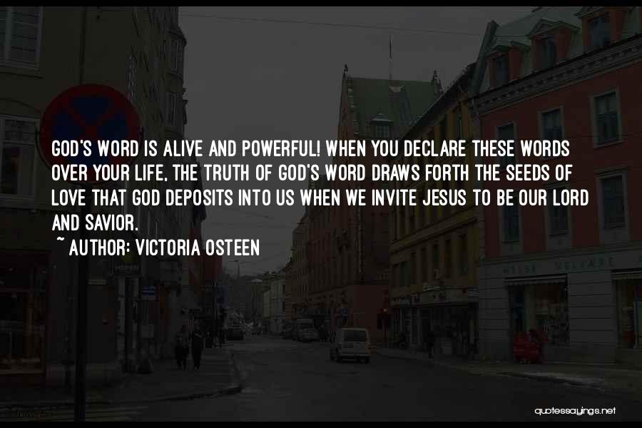 Powerful Word Of God Quotes By Victoria Osteen
