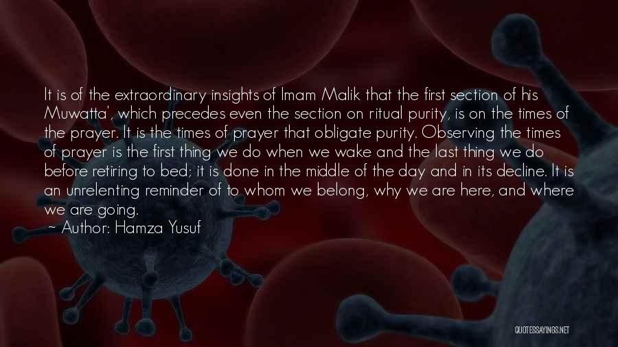Prayer Before Bed Quotes By Hamza Yusuf