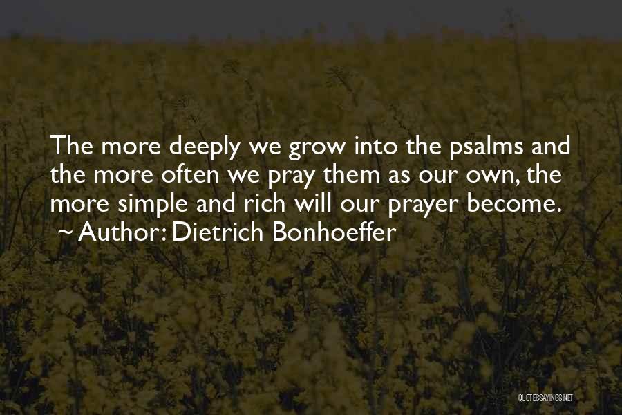 Praying Often Quotes By Dietrich Bonhoeffer