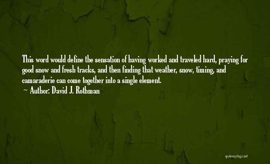 Praying Together Quotes By David J. Rothman