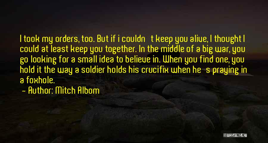 Praying Together Quotes By Mitch Albom