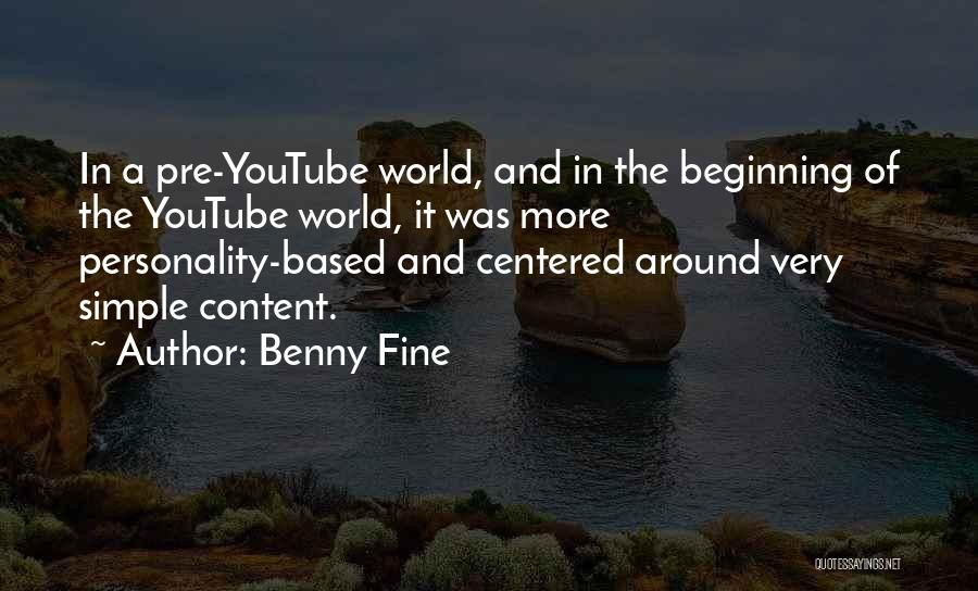 Pre Quotes By Benny Fine
