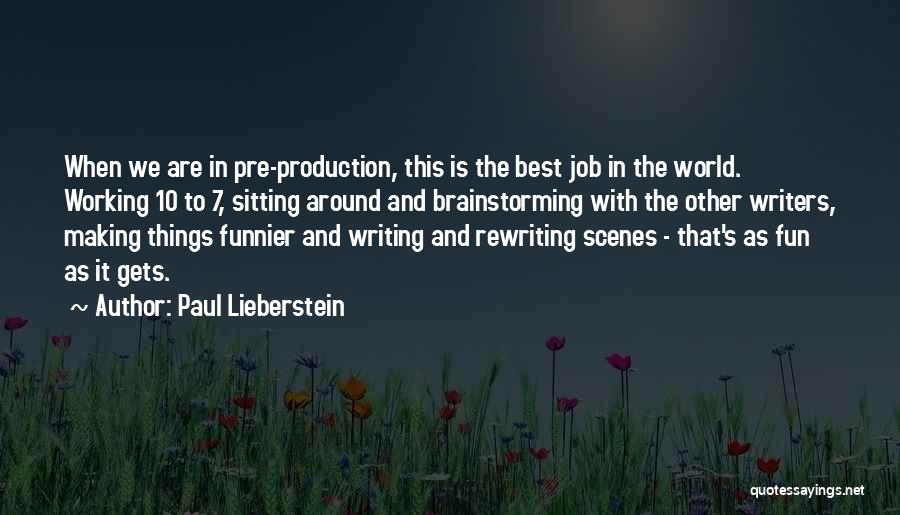 Pre Quotes By Paul Lieberstein