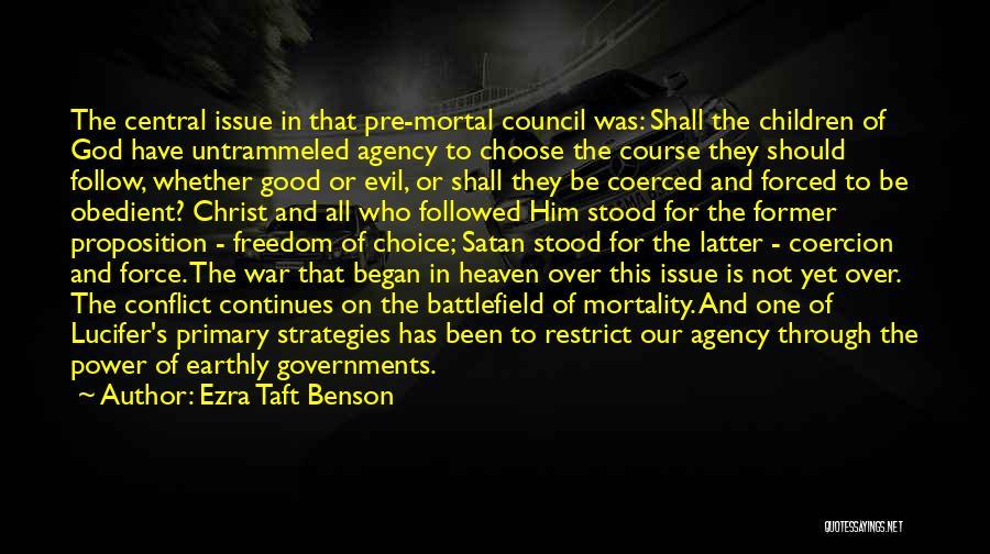 Pre War Quotes By Ezra Taft Benson
