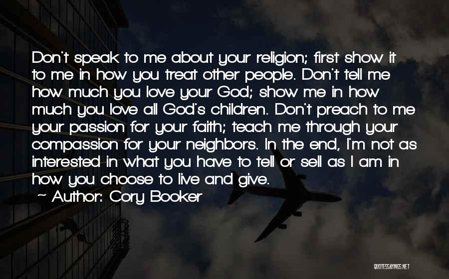 Preach Quotes By Cory Booker