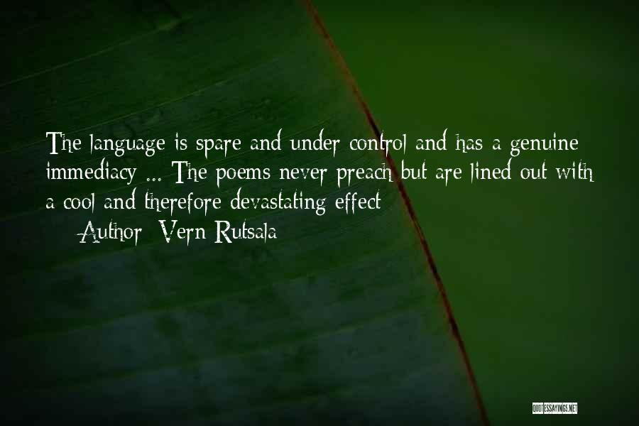 Preach Quotes By Vern Rutsala