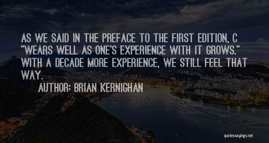 Preface Quotes By Brian Kernighan