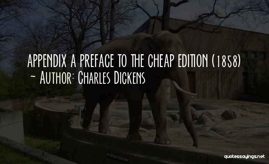 Preface Quotes By Charles Dickens