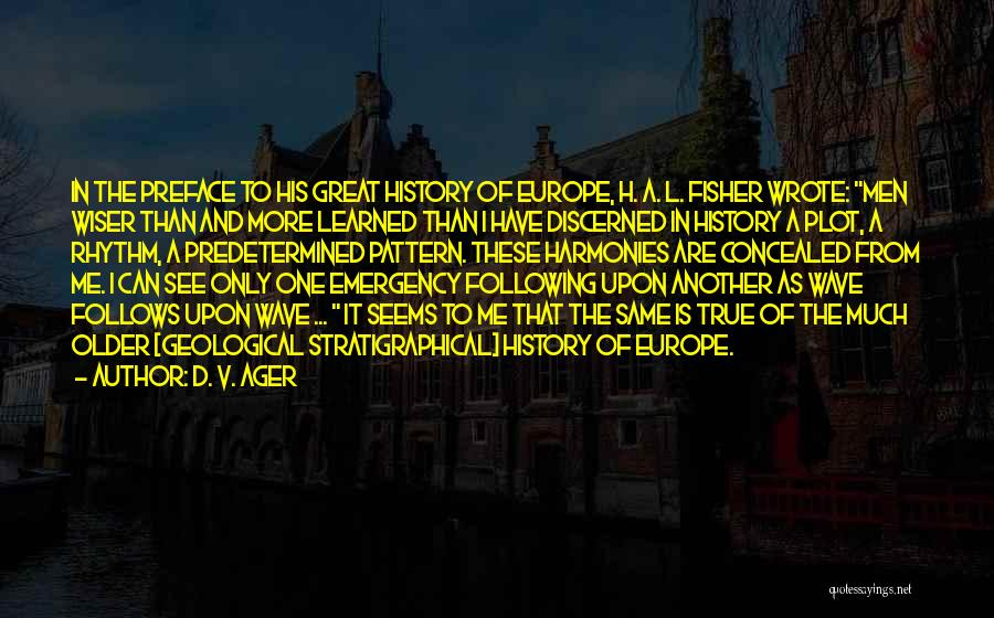 Preface Quotes By D. V. Ager
