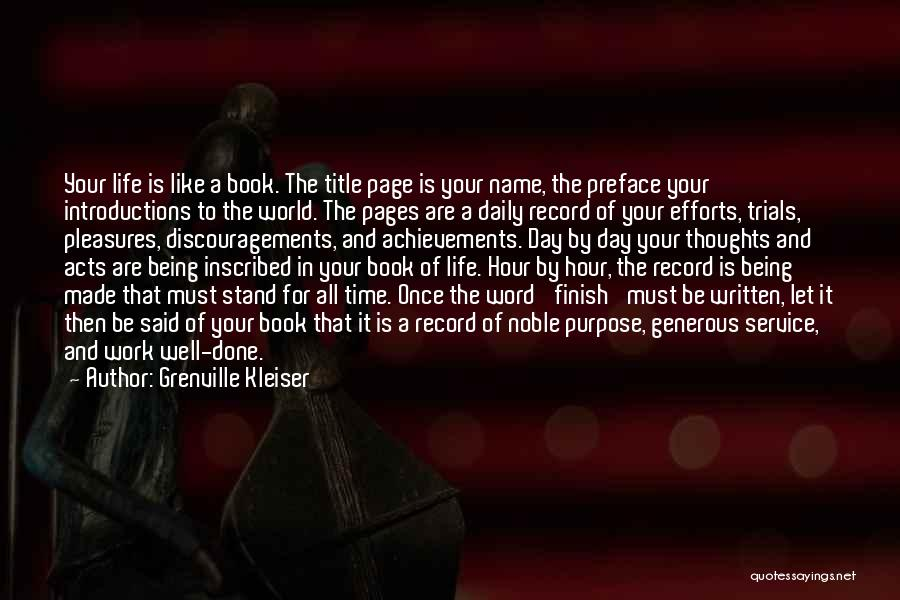 Preface Quotes By Grenville Kleiser