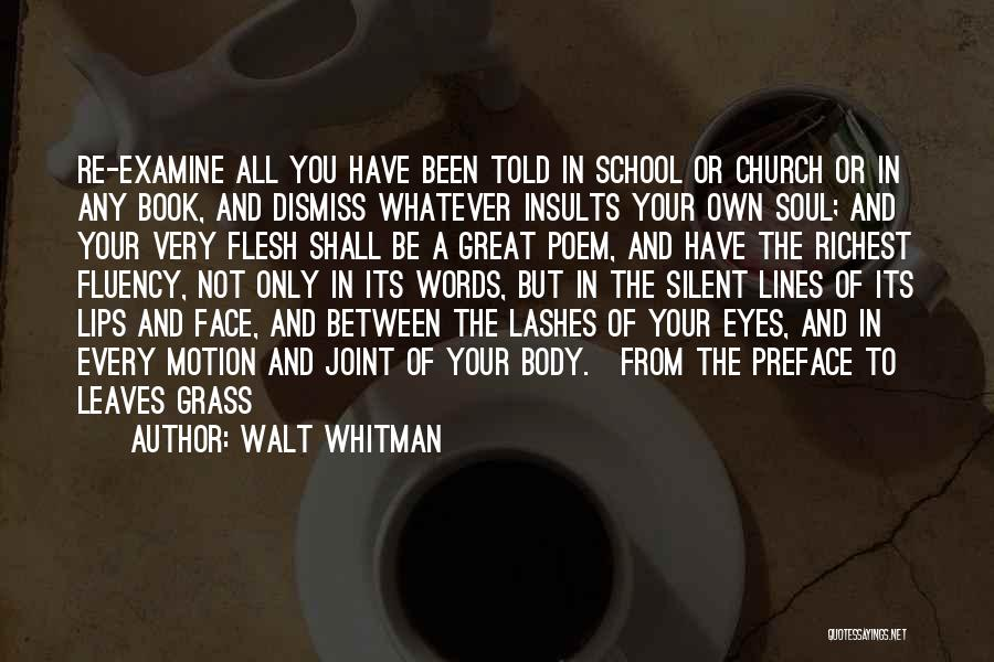 Preface Quotes By Walt Whitman