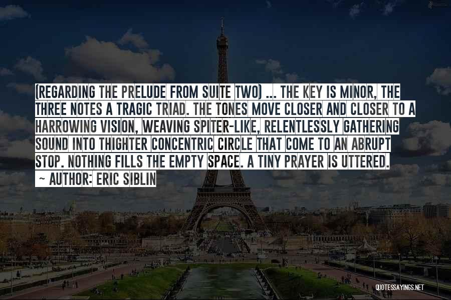 Prelude Quotes By Eric Siblin