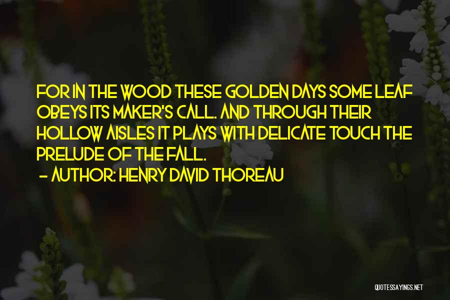 Prelude Quotes By Henry David Thoreau