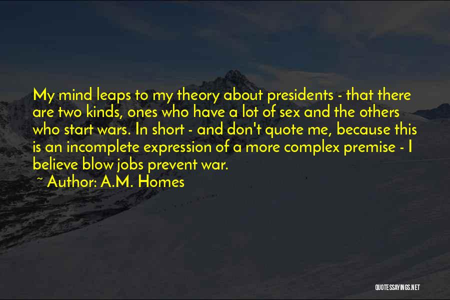 Premise Quotes By A.M. Homes