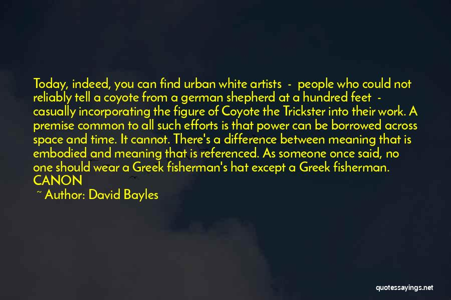 Premise Quotes By David Bayles