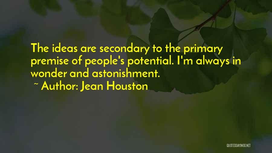 Premise Quotes By Jean Houston