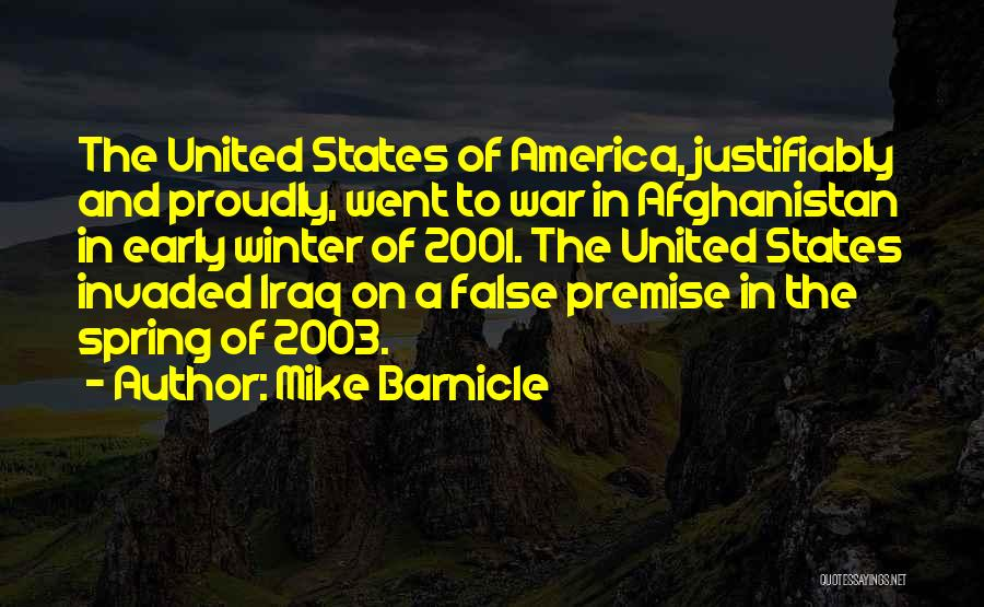 Premise Quotes By Mike Barnicle
