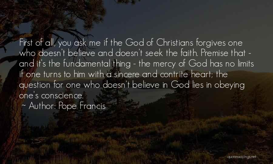 Premise Quotes By Pope Francis