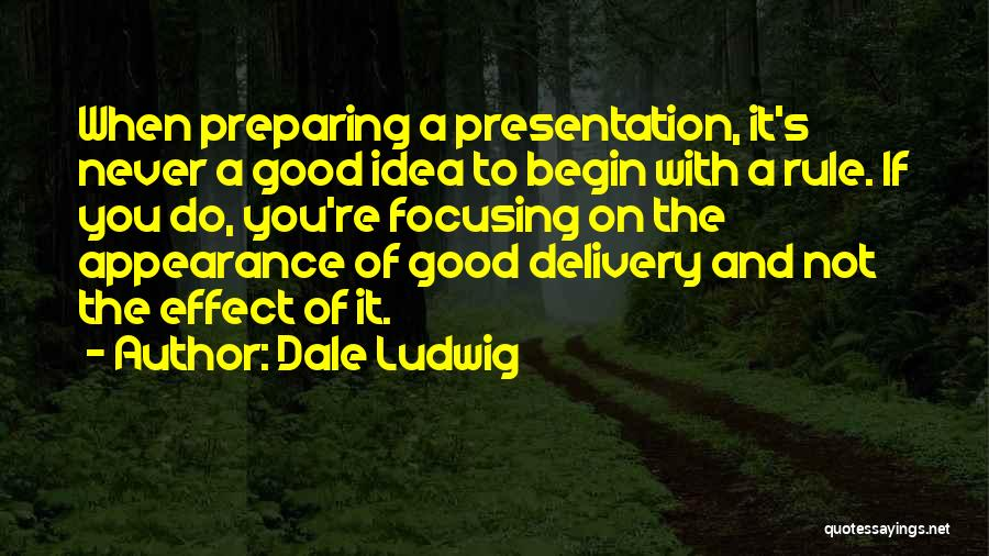Preparing Quotes By Dale Ludwig