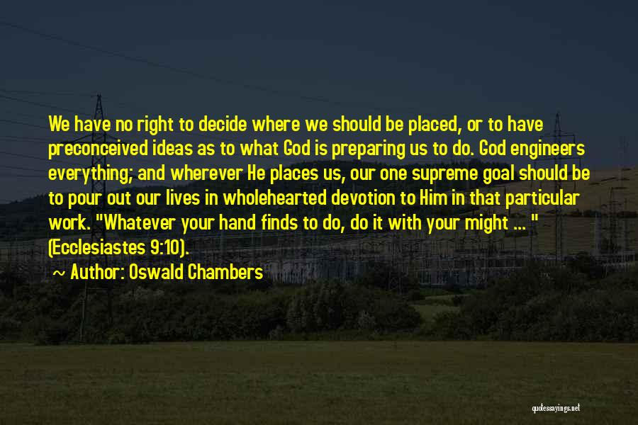 Preparing Quotes By Oswald Chambers