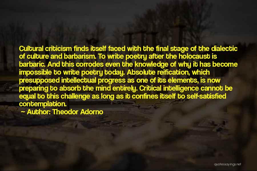 Preparing Quotes By Theodor Adorno