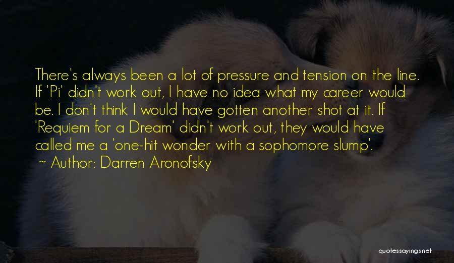 Pressure From Work Quotes By Darren Aronofsky