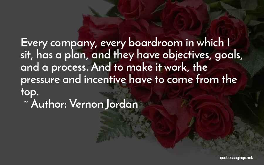 Pressure From Work Quotes By Vernon Jordan