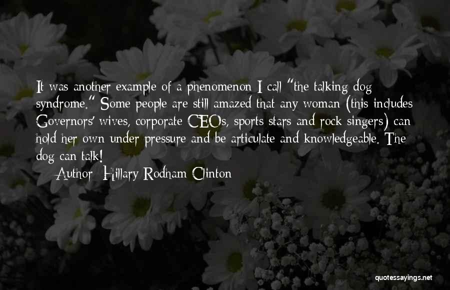 Pressure In Sports Quotes By Hillary Rodham Clinton