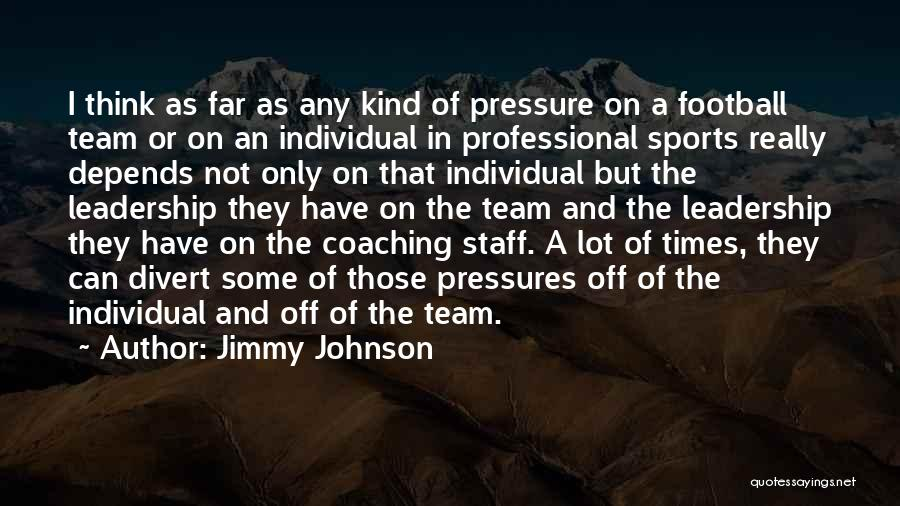 Pressure In Sports Quotes By Jimmy Johnson