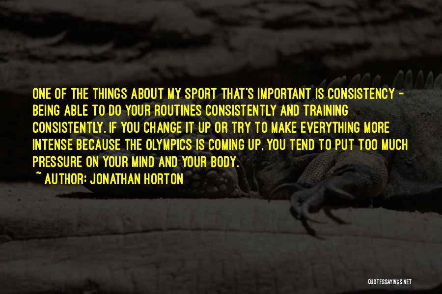 Pressure In Sports Quotes By Jonathan Horton