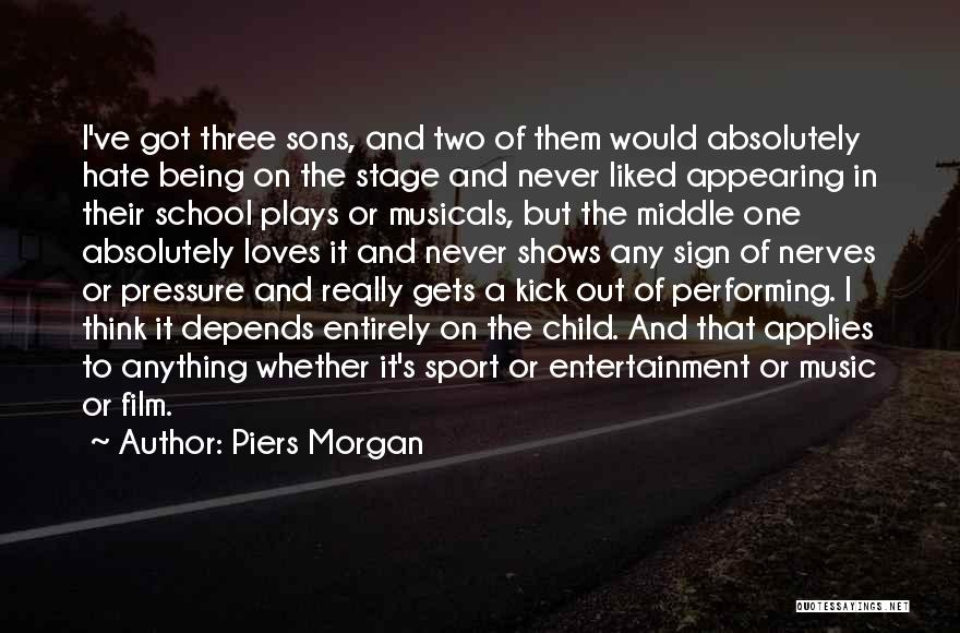 Pressure In Sports Quotes By Piers Morgan