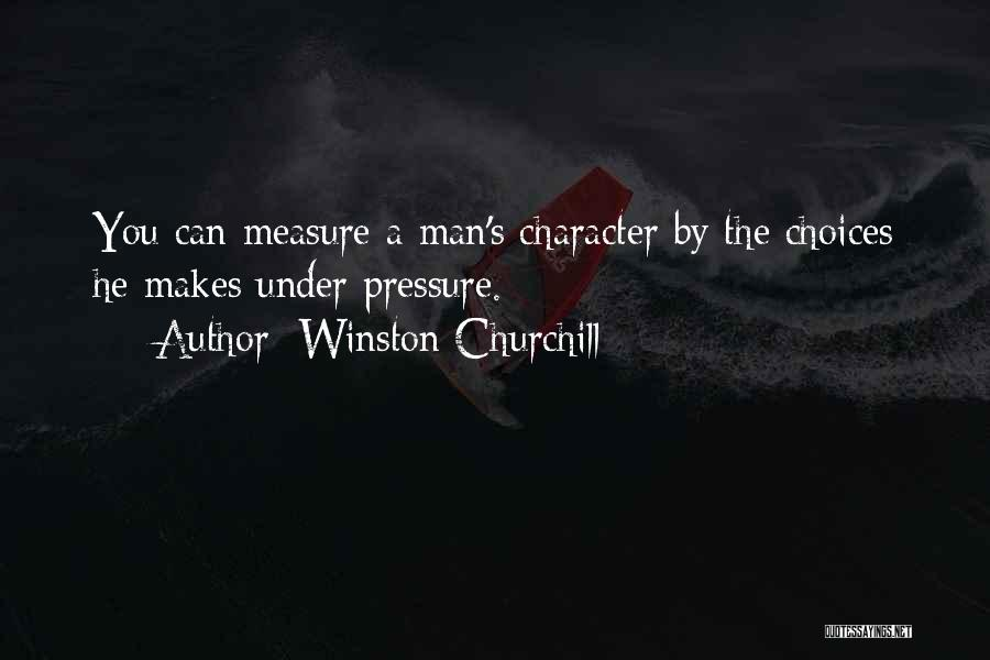 Pressure In Sports Quotes By Winston Churchill