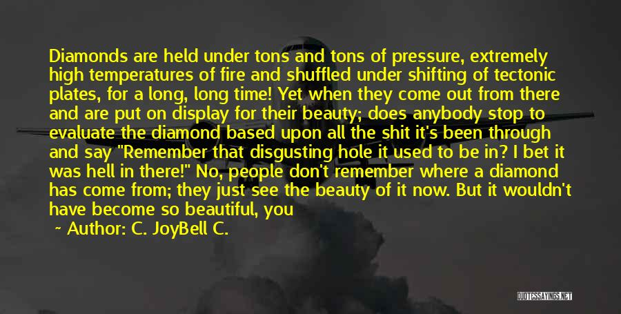 Pressure To Be Beautiful Quotes By C. JoyBell C.