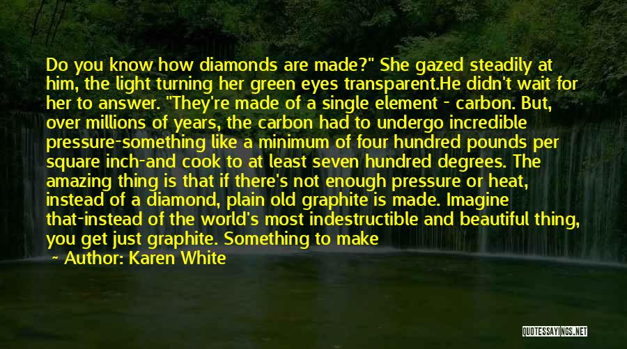 Pressure To Be Beautiful Quotes By Karen White
