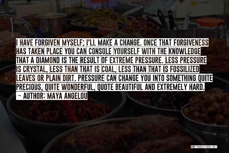 Pressure To Be Beautiful Quotes By Maya Angelou