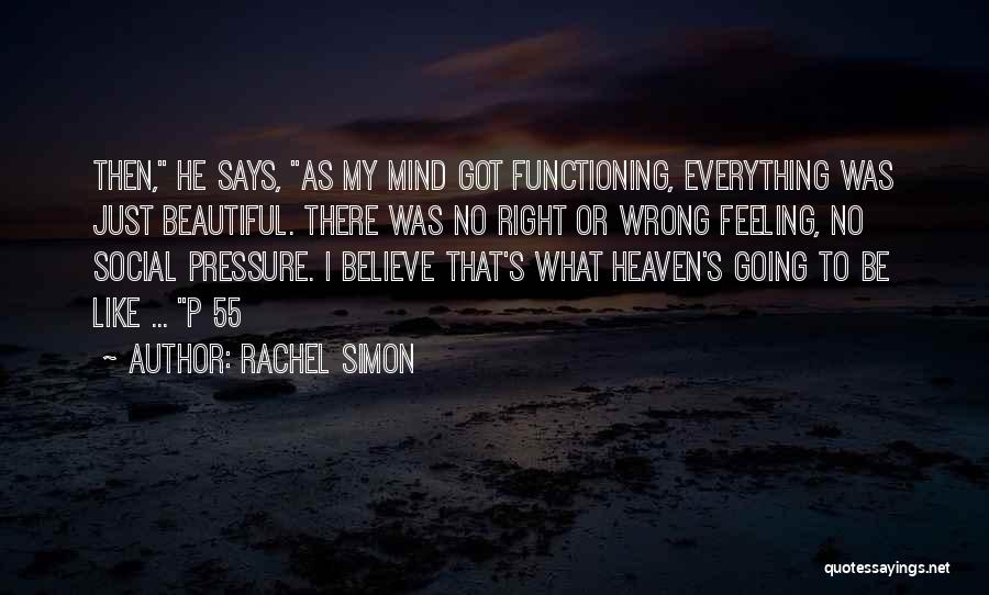 Pressure To Be Beautiful Quotes By Rachel Simon