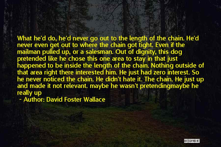 Pretending Something Never Happened Quotes By David Foster Wallace
