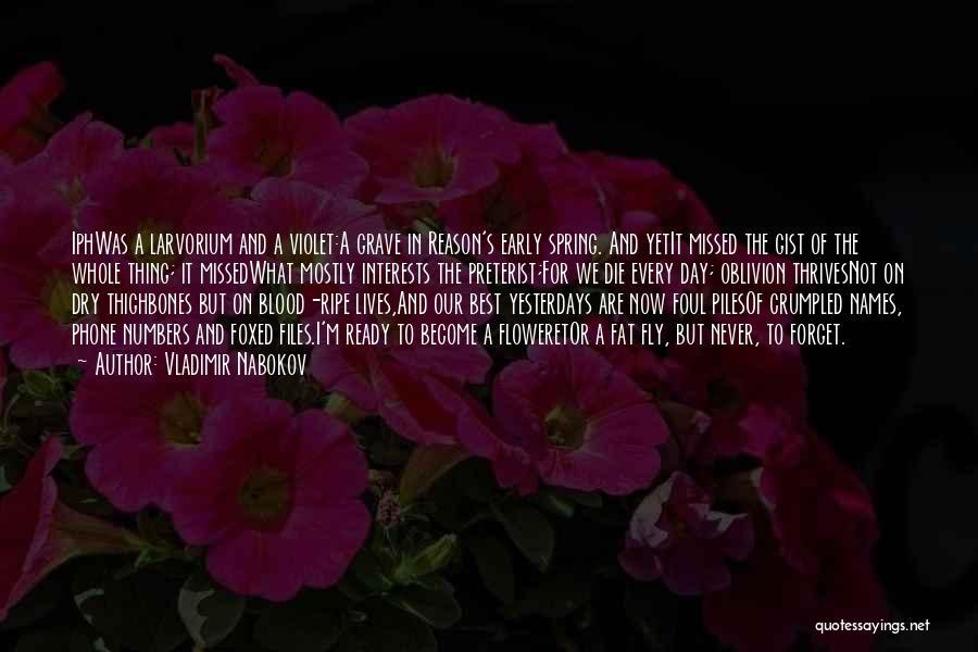 Preterist Quotes By Vladimir Nabokov