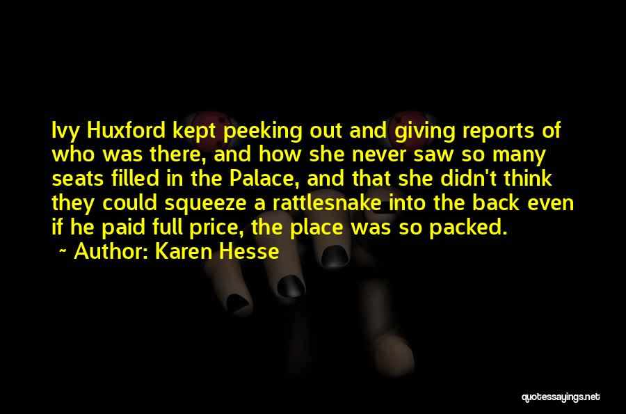 Price Reports Quotes By Karen Hesse