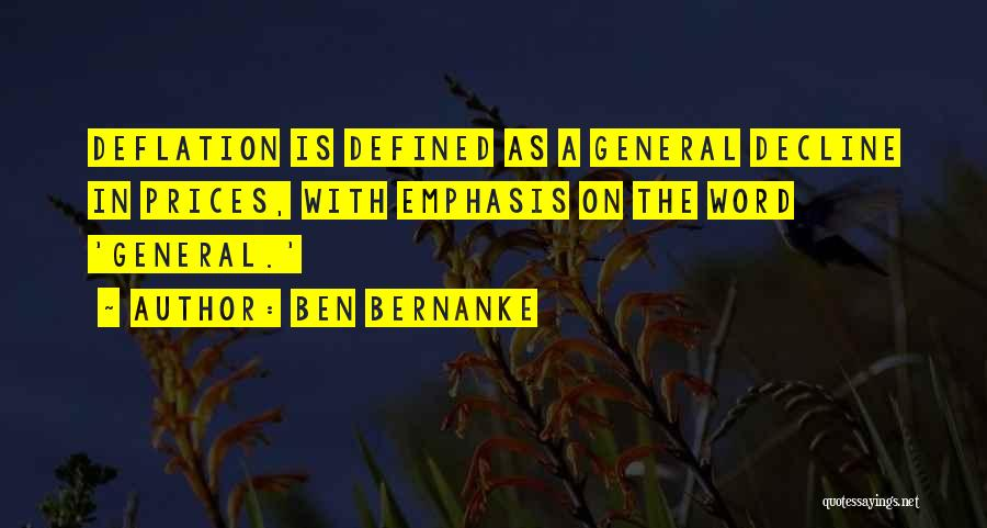 Prices Quotes By Ben Bernanke